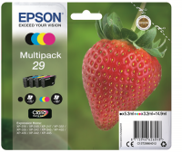Epson C13T29864010 / T2986 Multipack nero / ciano / magenta / giallo 4 cartucce n.29 serie fragola